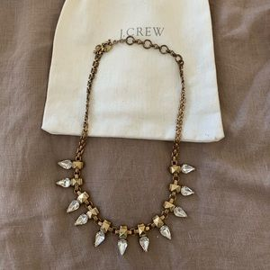 J. Crew Crystal Statement Necklace with bag